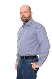 Man with beard. An image of a handsome man with a beard royalty free stock photography