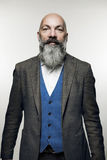 Man with beard. Middle-aged man with beard, studio portrait Stock Images