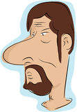 Man with Beard and Moustache Stock Photo