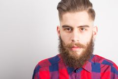 Man with beard and mustache Stock Photo
