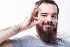 Man with beard and mustaches Royalty Free Stock Photos