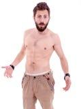 Man with beard posing Stock Images