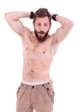 Man with beard posing Royalty Free Stock Photography