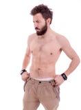 Man with beard posing Stock Image