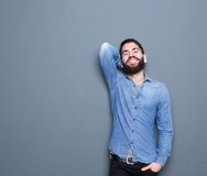 Man with beard smiling Royalty Free Stock Photo