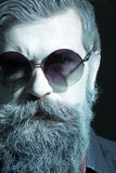 Man with beard in sun glasses Royalty Free Stock Photography