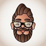 Man with beard. Vector illustration stock illustration