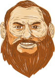 Man Bearded Face Retro Royalty Free Stock Photography