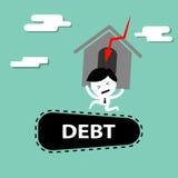 Man bearing debt financial problem Royalty Free Stock Photography