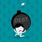 Man bearing debt financial problem Stock Image
