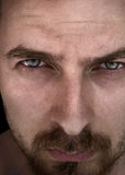 Man with beautiful deep eyes Stock Photos