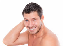 Man beauty care stock images