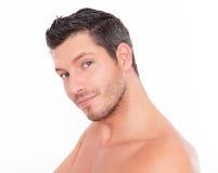 Man beauty care Stock Photo