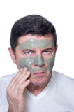 Man with beauty mask royalty free stock image