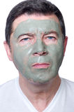 Man with beauty mask Royalty Free Stock Photo
