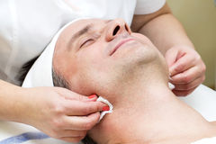 Man in a beauty salon Stock Images