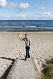 Man on the bech. Man on the bech in sunny day Stock Photos
