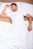 Man bed Stock Image