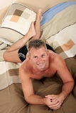 Man bedroom grooming Stock Images