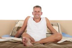Man bedroom grooming Stock Image