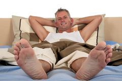 Man bedroom grooming Royalty Free Stock Images