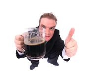 Man and beer Royalty Free Stock Photography