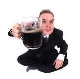 Man and beer Stock Image