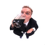 Man and beer Stock Images