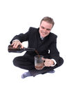 Man and beer Stock Photography