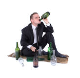 Man and beer Stock Photos