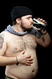 Man with beer Royalty Free Stock Photography