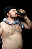 Man with beer Royalty Free Stock Photos