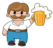 Man with beer Stock Photo