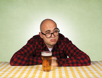 Man and beer Royalty Free Stock Photos