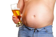 Man with beer glass Royalty Free Stock Photos