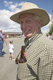 Man with a beer in his pocket, in Lima Montana Stock Photography