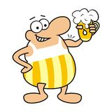 Man and beer, mascot Royalty Free Stock Image