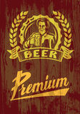 Man with beer Stock Images