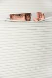Man behind blind Stock Photos