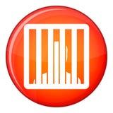 Man behind jail bars icon, flat style Royalty Free Stock Image