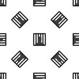 Man behind jail bars pattern seamless black Royalty Free Stock Images