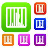 Man behind jail bars set collection Stock Photos
