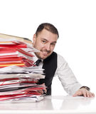 Man behind an office desk Royalty Free Stock Photography