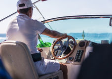 Man behind the wheel Royalty Free Stock Images