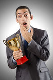 Man being awarded Royalty Free Stock Images