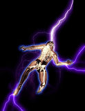 Man being electrocuted Royalty Free Stock Photography