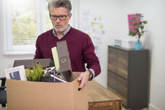 Man is being fired Stock Photos