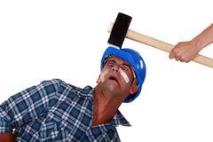 Man being hit Stock Image