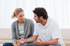 Man being mad at his wife Stock Photos