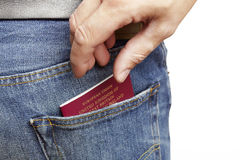 Man being pickpocketed Royalty Free Stock Image